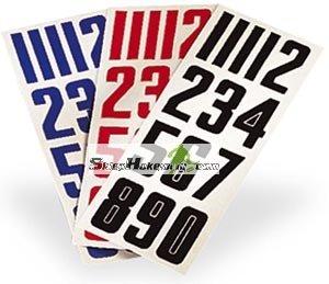 samoprzylepne numery na kask